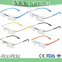 OEM latest flexible temple tinted optical glasses