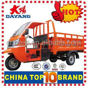 2015 Cargo tricycle 3 wheel enclosed motorcycle/petrol truck/tuk tuk with big booster rear axle