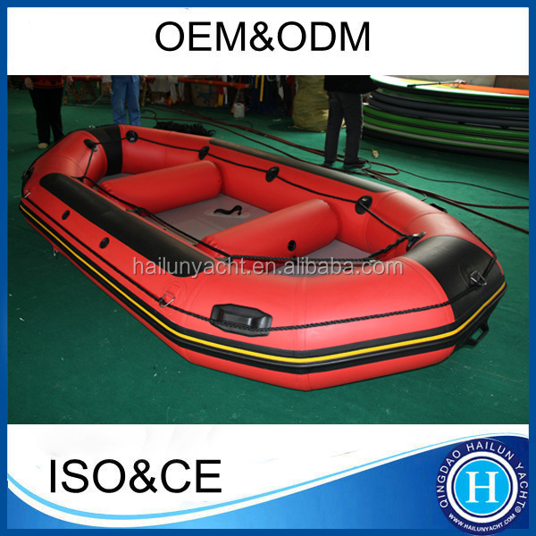 Inflatable fishing boat 12 ft inflatable raft set with aluminum paddle foot pump repair kit