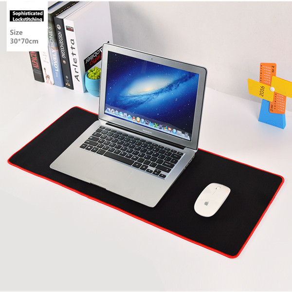 Custom die cut mouse pad flat Neoprene gaming keyboard mat