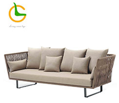 2018 New 7 star Hotel Outdoor Garden Sofa/ Outdoor lounge Cast Aluminum Garden Line Patio sofa