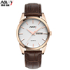 NARY Men's Fashion Watches Men 3 atm Waterproof Leather Strap watch Quartz Man Classic Business Gift Clocks Male Relogio 1901