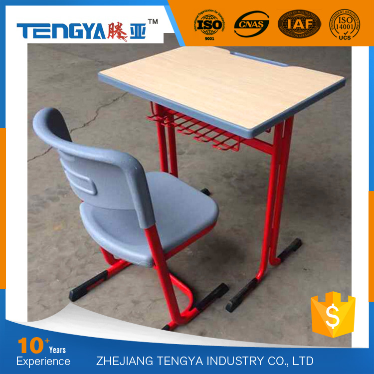 2016 Latest Design cheap single school desk and chair