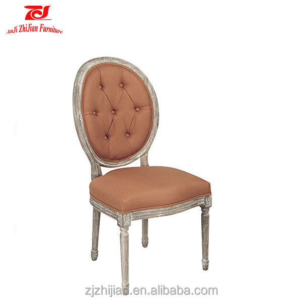 2016 good quality antique wood carved back chair french style oval wood chair
