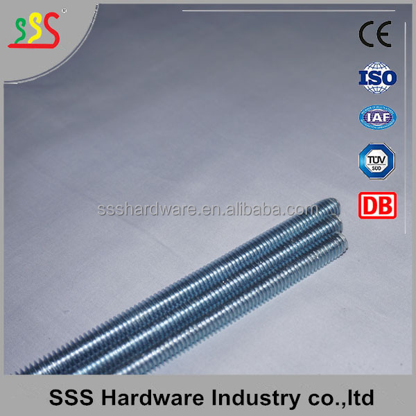 High Quality Double end galvanized threaded rod
