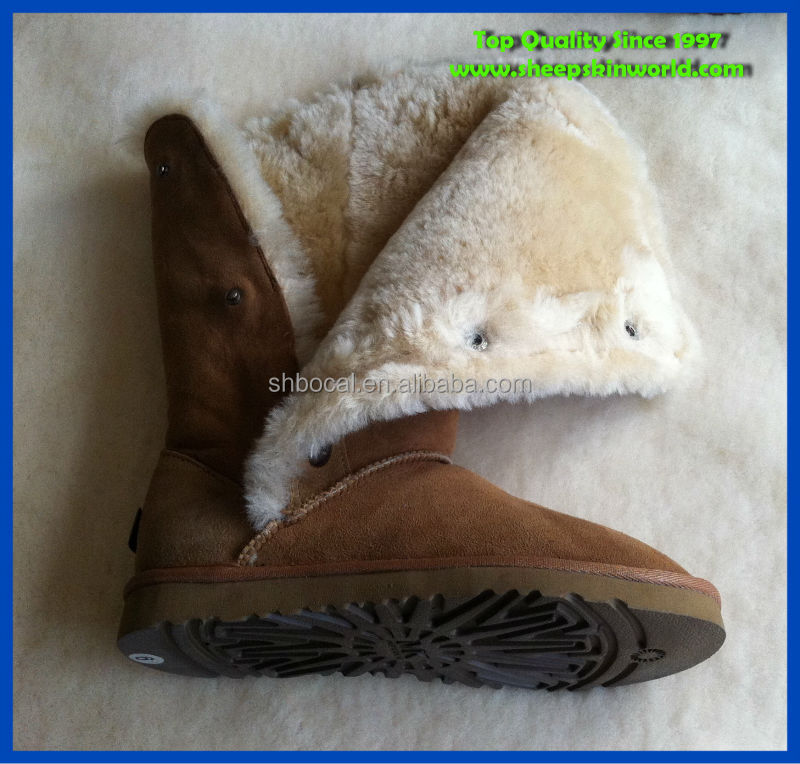 easy on sheepskin winter snow boots
