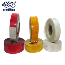 5cm x 45.7m Yellow vivid color normal quality and 3m quality diamond reflective tape for vehicle with factory wholesale price