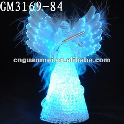 optical fiber decoration glass angel