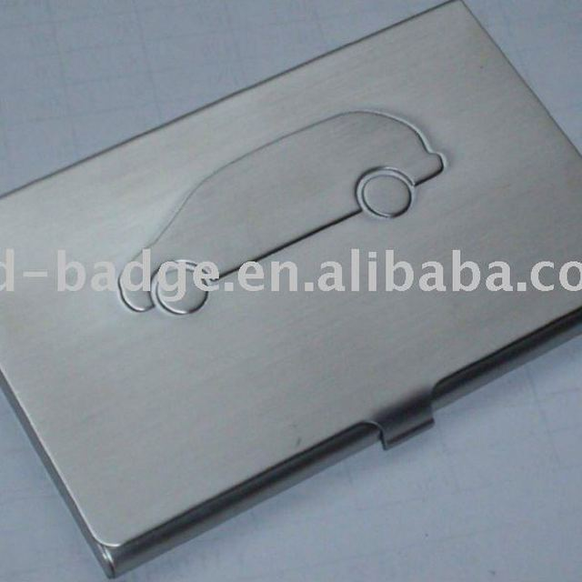 metal business name card case