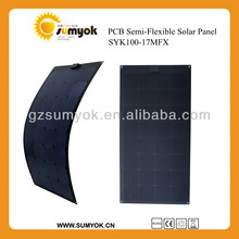 SYK100-17MFX sunrise pv solar panels mono semi-flexible solar panel 17v 100w pcb battery charger