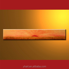 wholesale handmade high quality modern sunrise scenery huge oil painting