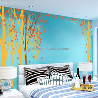 zooyoo8457vinyl wall decal Removable decorative colorful big tree wall decal for livingroom window sticker