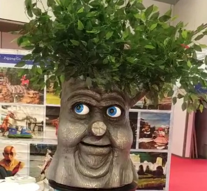 Zigong Co-creationarts Animatronic Talking Tree Speaking Tree Life Size Artificial Talking Trees