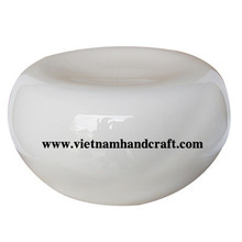 Quality eco-friendly traditionally hand finished vietnamese lacquer bamboo furniture products in white