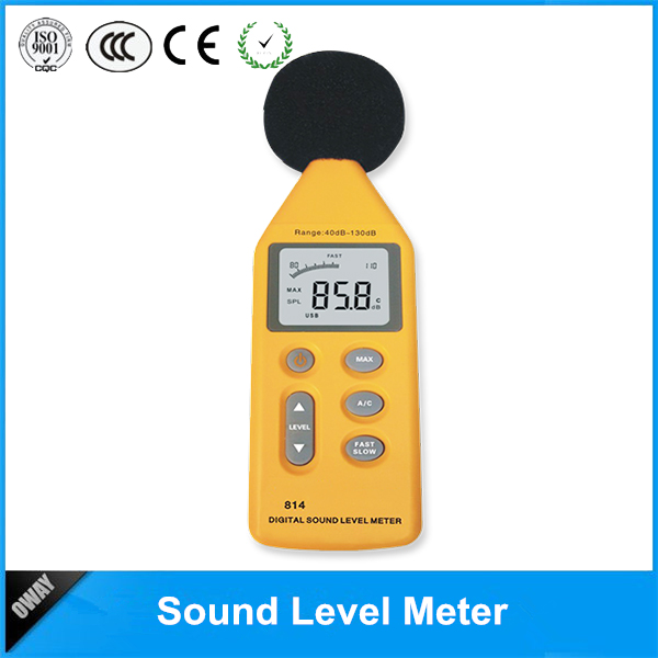 Exellent with CE&ROSH certification 40db-130db digital sound level meter class 1