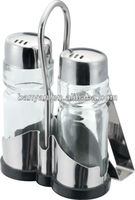 Kitchen Accessoryies Oil and Vinegar Stainless Steel Cruet Set