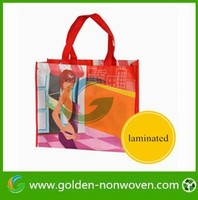 OEM welcome 5000pcs MOQ Bopp laminated pp non-woven shopping bag