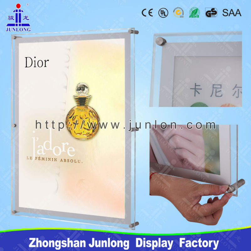 Advertising Crystal LED Light Box, Commercial Acrylic LED Panel, Zhongshan JL-S
