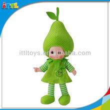 A494397 EN71 Approval Lovely Pear Doll Fruit Kids Musical Doll