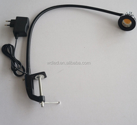 5W Flexible arm LED reading light with clip/clamp Gooseneck Reading Lamps