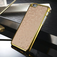 2015 Wholesale Diamond Pattern PC case with electroplating bumper phone cases for iphone 6 cheap factory price