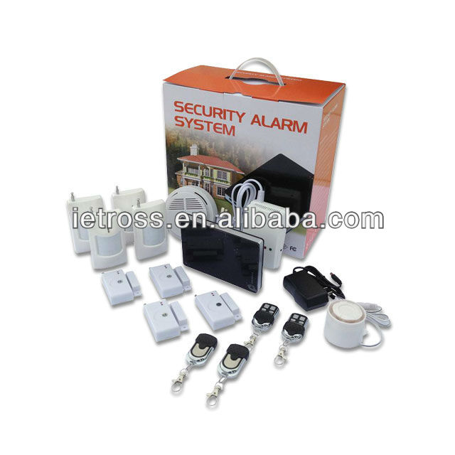 Built-in Five languages Gsm wireless home burglar security alarm system(Large packages)