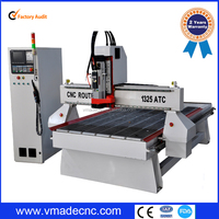 Italy hsd spindle atc cnc router machines price/ VRM1325 wood cnc router price,wood routers carving machine