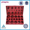 BSCI approved hot sale 419pcs of seal metric silicone rubber O ring washers assortment with plastic PP box