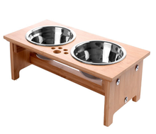 Pet products of pet Bowls Stand Feeder with 2 Stainless Steel Bowls