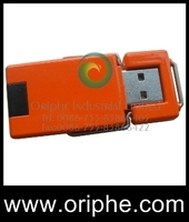 Orange colored pie USB Flash Drive - Style Flip II