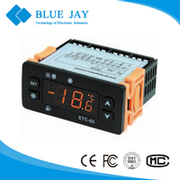 ETC-30/60 LED Refrigeration -50C~120C Temperature Controller for M.T. or L.T. Ventilating Refrigeration Applications