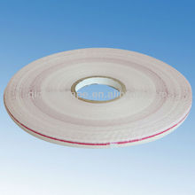 wide 13mm glue strip of 6mm double side resealable bag sealing tape for plastic bag