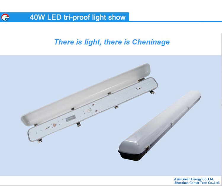 China Shenzhen Factory Led Tri-proof Light 40w Led Tube Light ...