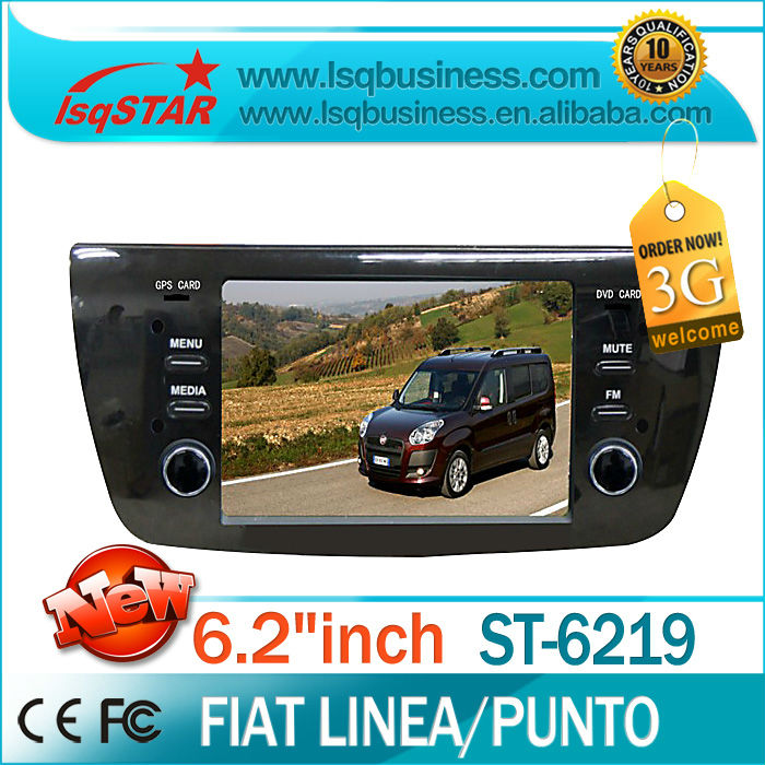 LSQ Star Car DVD Fiat Punto/ Linea with GPS Navigation 6CDC Radio bluetooth ipod SWC 3G optional hotselling