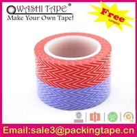 resonable price high quality company logo printed,colorful rice paper tape with free samples offer
