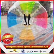 High quality 1.0mm PVC human sized soccer bubble ball for football games