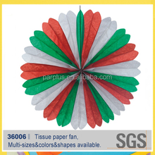 many colors wedding paper fan decoration