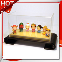 Led light clear rectangle acrylic shoe box for demo, storage box.toys display box