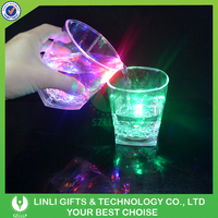 Bar Drinking Led Flashing Whisky Glass With Logo