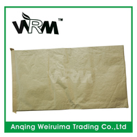 white/brown kraft paper bag with pp woven or PE layer for cement packaging