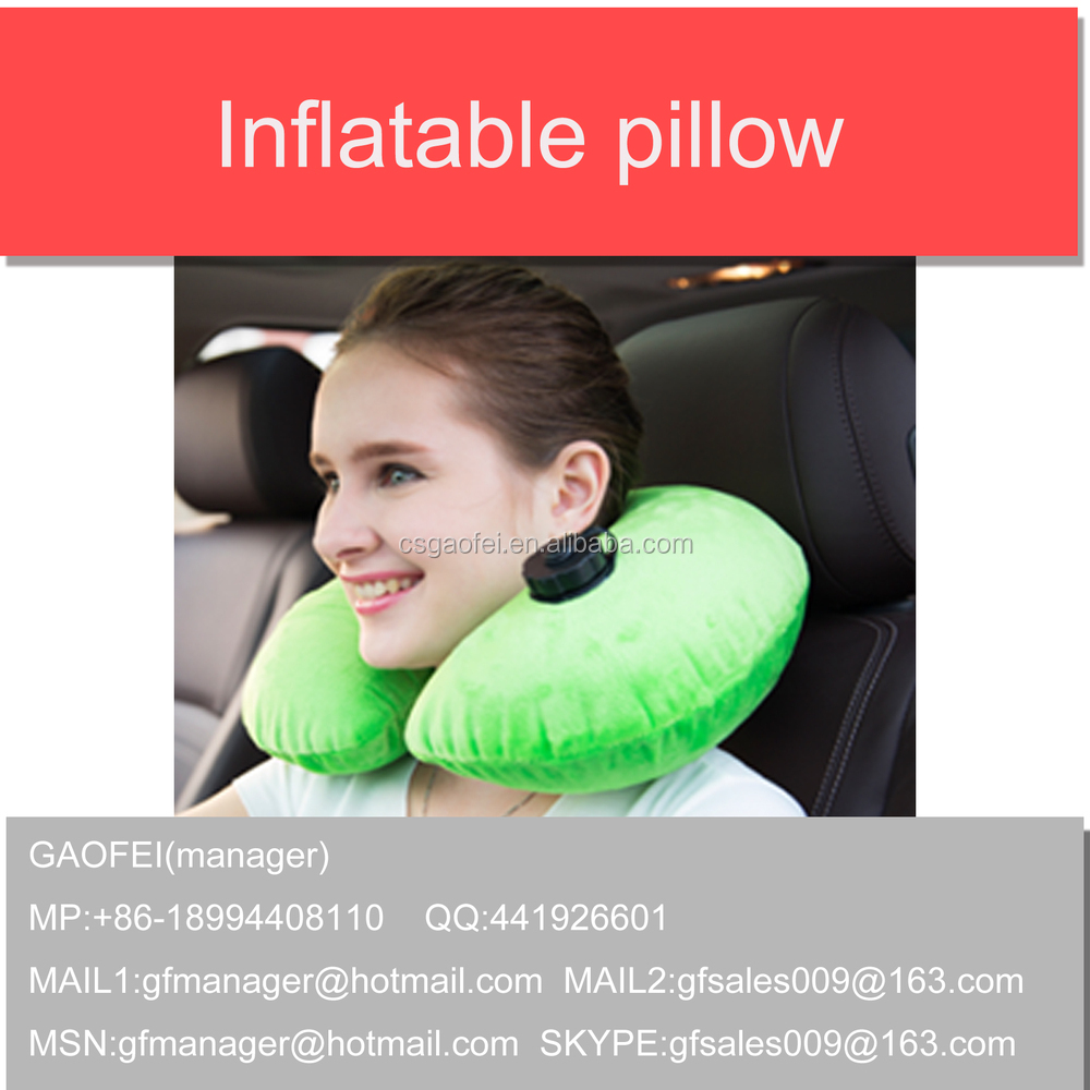 Popular promotional wholesale U Neck inflatable pillow for outdoor,travel