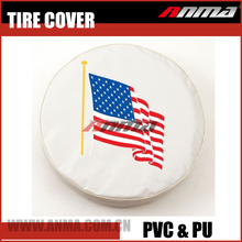 14 inch 15 inch 16 inch PU Leather Custom logo spare tire cover 4x4