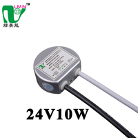 24V 10W single output type waterproof mini round shape led driver