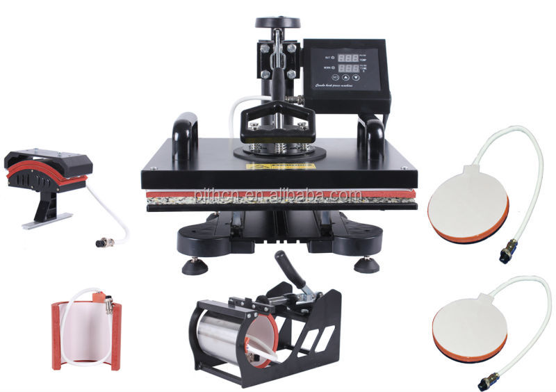6 in 1 combo heat transfer printing machine