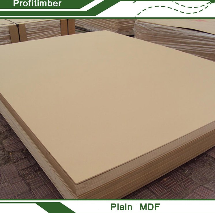 Made in China Factory Direct High Quality Plain MDF Board