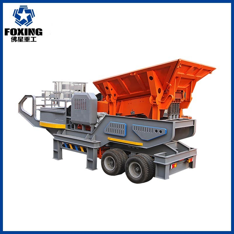 Mobile small scale rock ore mining plant fine gold recovery machine