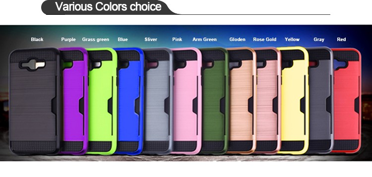 2016 Multifunctional TPU PC Back Case Phone Cover for Samsung Galaxy J7