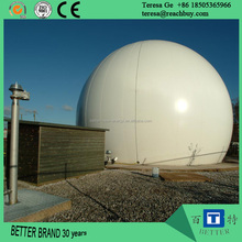 Double membrane biogas storage tank, biogas power plant from waste to electricity power