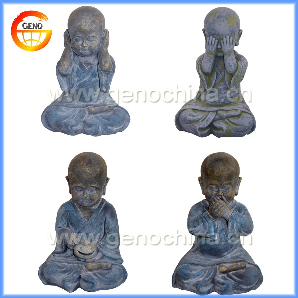 NEW joyful little sitting monk craft sale for buddha decor