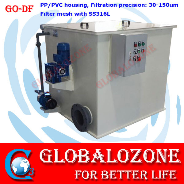 tilapia fish hatchery equipment drum filter self cleaning machine